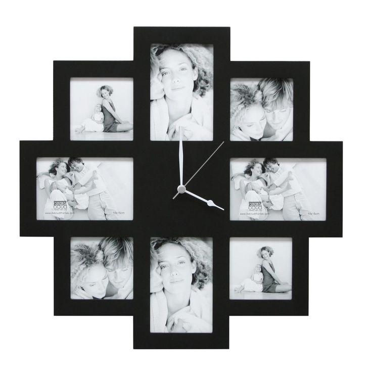 Fotoklok zwart 48x48cm