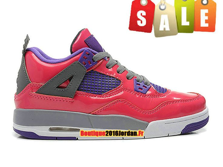 Air Jordan 4/IV Retro 2013 GS - Chaussures Jordan Baskets Pas Cher Pour Femme/Fille Rose 487724-607