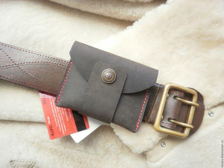 Купить кошелёк кожаный мини.кошелёк из кожи ручной работы - коричневый, кожаный кошелек