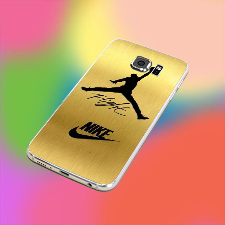 NIKE JORDAN JUMP IN GOLD TEXTURE for iPhone and samsung galaxy case hard plastic
