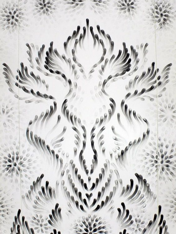 Judith Ann Braun Uses Fingerprints To Create Elaborate Murals