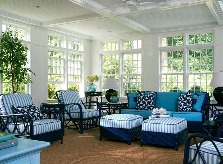 Conservatories Beach Chic White Wicker Furniture