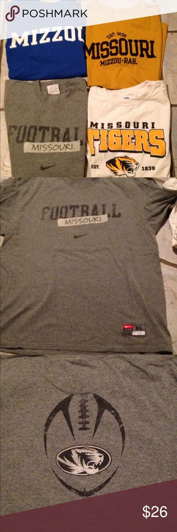 MIZZOU-RAH tshirts men's size XL short sleeve Four University of Missouri men's t-shirts in great condition. Shirts Tees - Short Sleeve