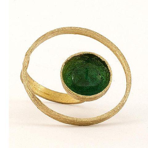 Handmade Bronze Enamel Ring In 3 Colors