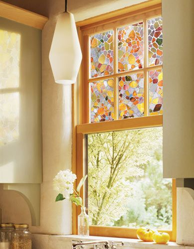 Stained glass window i have these they 39 re clings you can - Vidrieras modernas ...