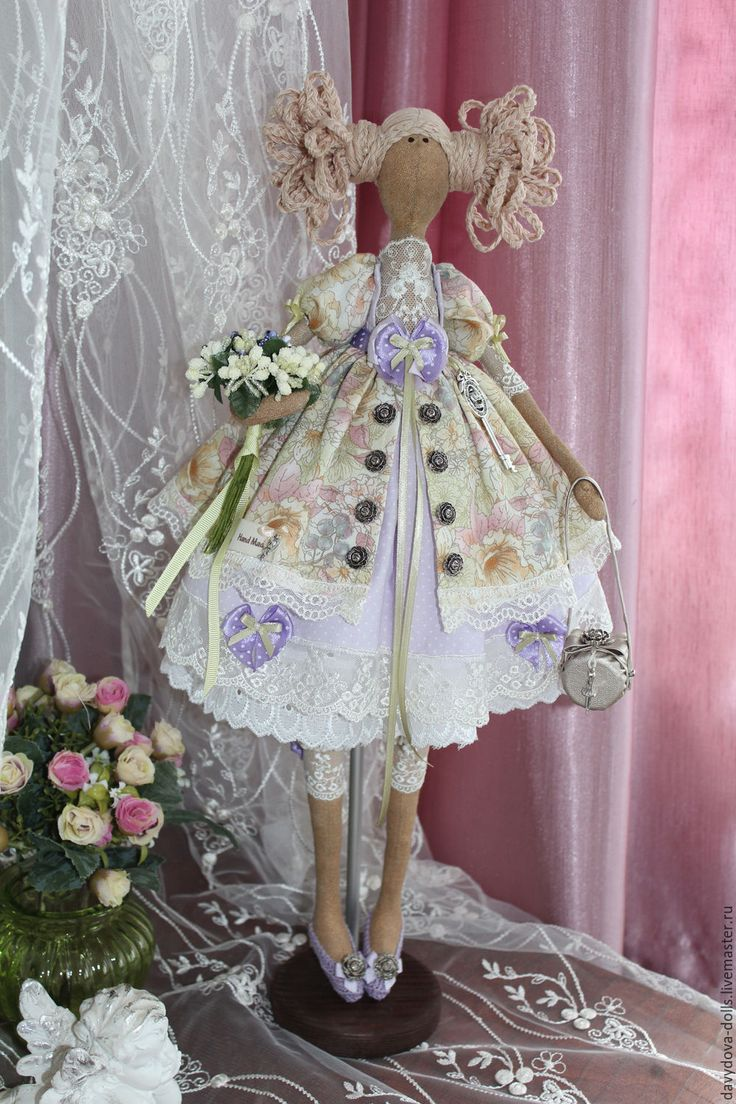 """Купить кукла тильда """"Вероника"""" - сиреневый, кукла ручной работы, подарок, тильда, текстильная кукла"""