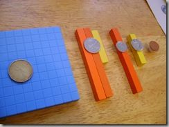 Cuisenaire rods and money math