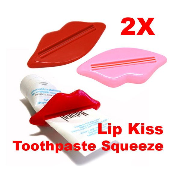 2Pcs Bathroom Lip Kiss Easy Press Tube Dispenser Toothpaste Squeezer Gadget Random Color #clothing,#shoes,#jewelry,#women,#men,#hats,#watches,#belts,#fashion,#style