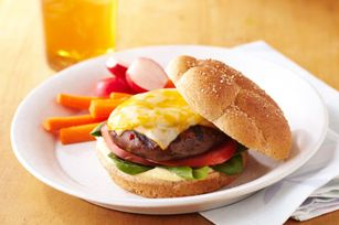 Portobello Burgers recipe. Meatless, yes. Boring, no. Grilled portobello mushrooms bring hearty flavor to your next cookout. Worried about rainy weather? You can actually use your broiler! Instructions: Heat broiler. Brush mushrooms with half the dressing. Broil 5 to 6 min. or until tender, turning after 3 min. and brush with remaining dressing. Enjoy! #vegetarian