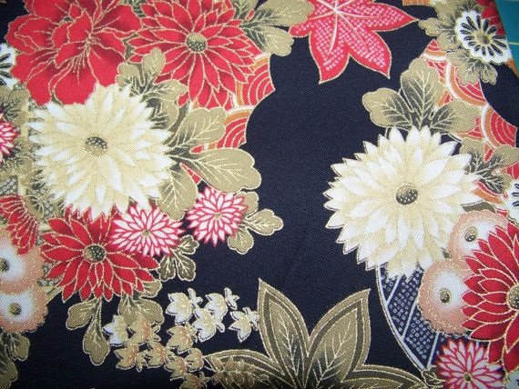 Fabric Oriental Print by Quilt Gate by GabbysQuiltSupplies on Etsy, $6.50
