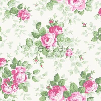 Tapetti Roses 138109 0,53x10,05 m pinkki non-woven