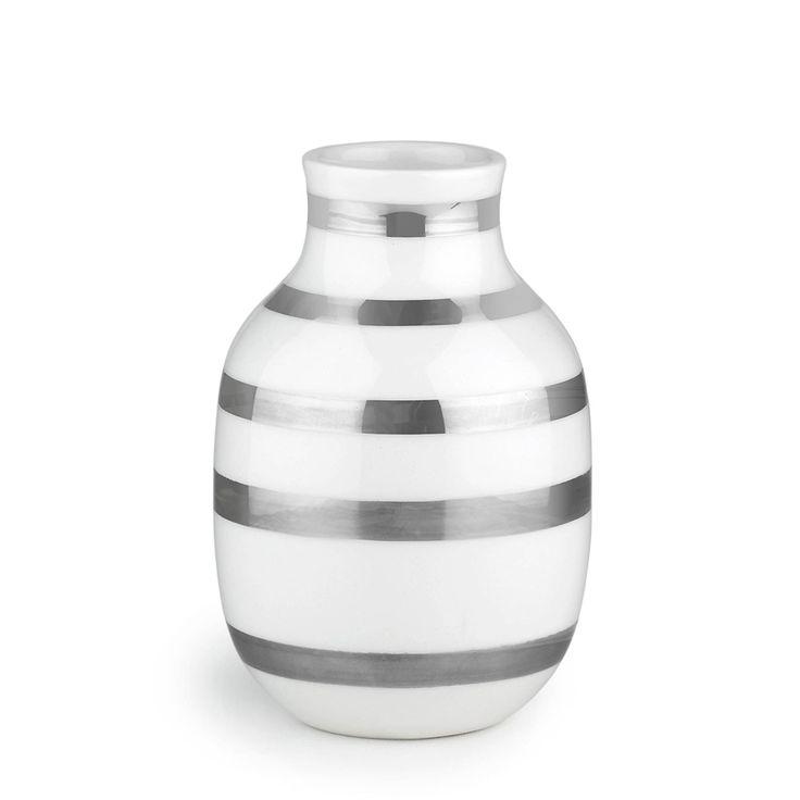 Omaggio Vase Silber Small, Kähler