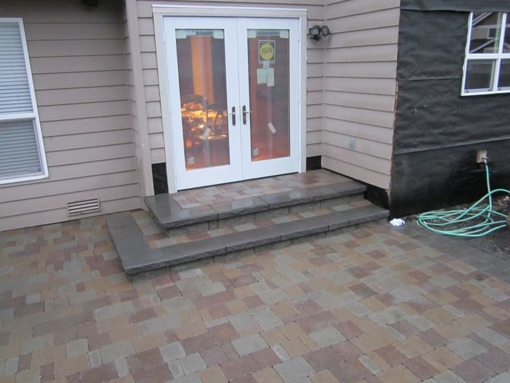 Images Of Steps To Patio | Sand Set Paver Patio With A Randomized Pattern  And Steps