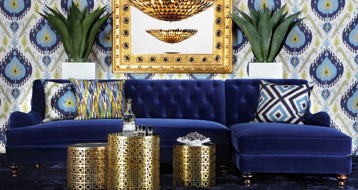 Inspired by this  look on @Z Gallerie  from Z Gallerie simmer on the gold but love this couch @Nancy Landes