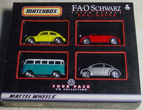 FAO Schwartz Exclusivee Four Pack Mattel Wheels VW Collection