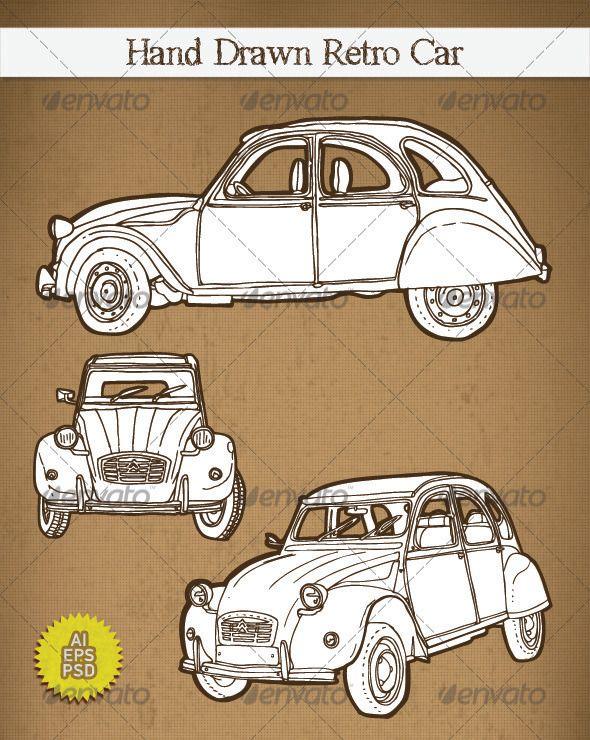 French Illustrator Animals Driving Cars