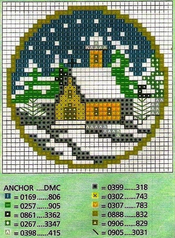Counted Cross Stitch Church Pattern - Could be used with Perler Beads too!