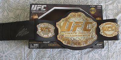 GEORGES ST PIERRE SIGNED UFC JAKKS CHAMPIONSHIP BELT DC/COA RUSH GSP (GEORGE)