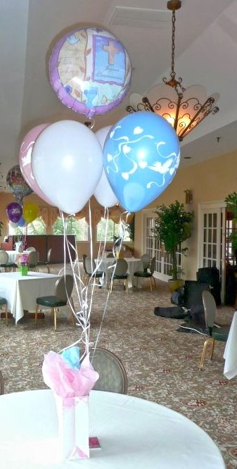 17 best images about baptism communion on pinterest for Balloon decoration ideas for christening