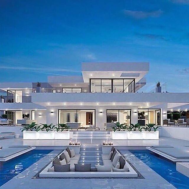 Luxury Houses Interiors On Instagram Modern White Mansion