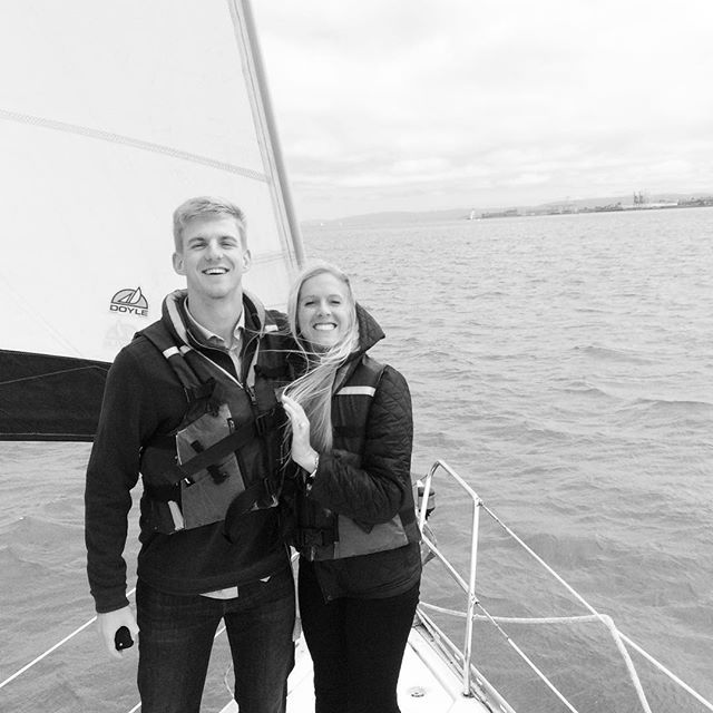 Tommy Allen popped the question on board sailing vessel matador and she said Yes! Congrats and best of luck! #sfsailingscenes #captainsanfrancisco.com #sunsetcruisesfbay #sailingsanfrancisco #marriageproposal #charteryacht