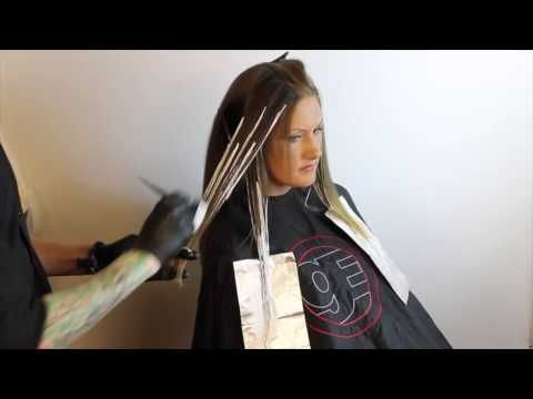 Highlight Technique & How to Do Attractive Balayage Creating SunKiss Look step by step - YouTube