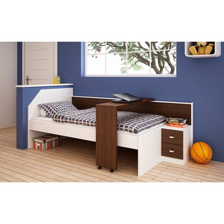 17 best camas de solteiro images on pinterest solid wood for Cama juvenil ikea