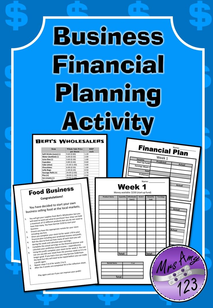 Business plan financial projections calculator with fractions