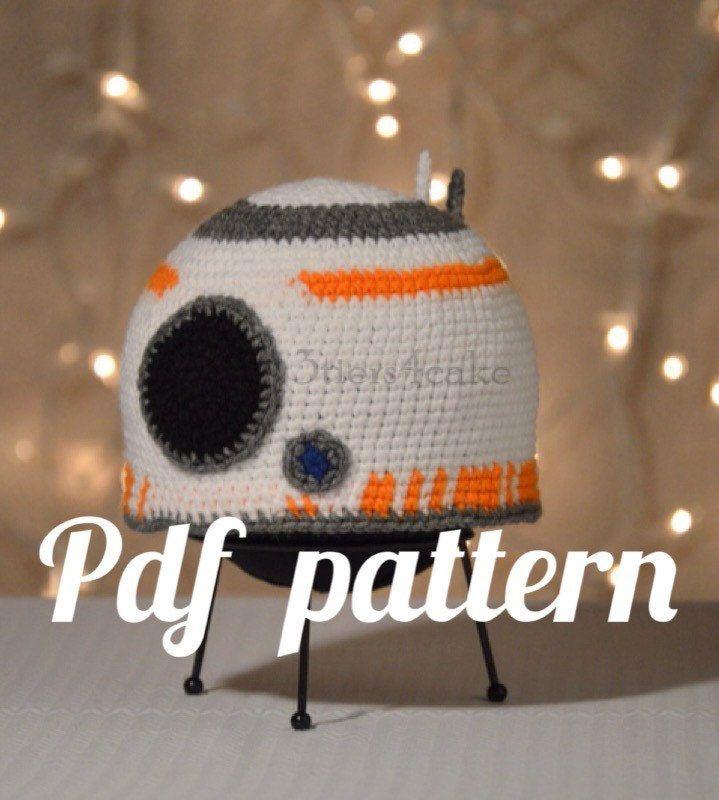 Bb8 Hat Crochet Pdf Pattern Crochet Star Wars Pinterest