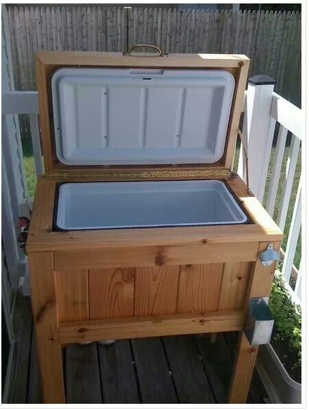 Homemade cooler stand for the deck  Outdoors  Pinterest
