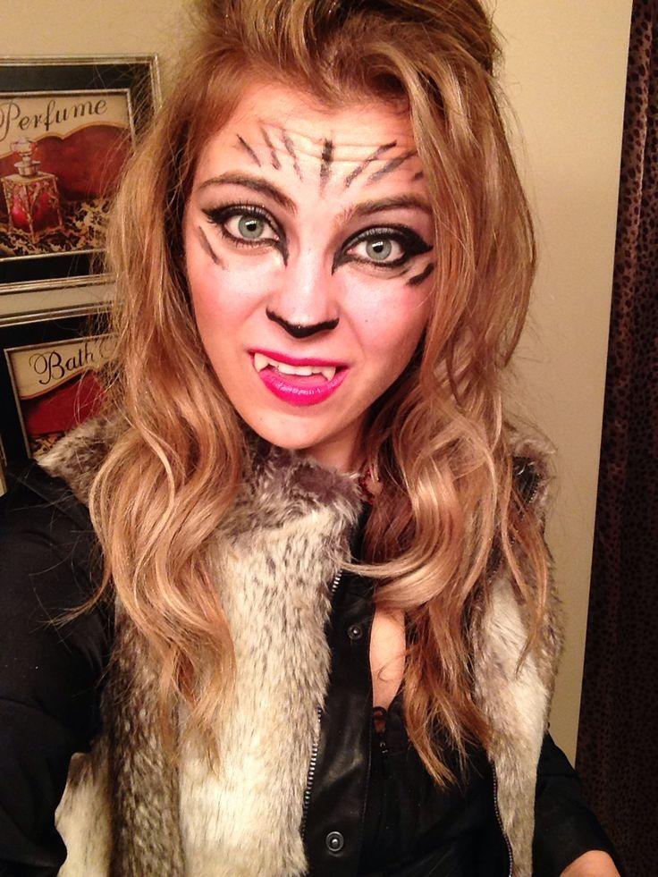 DIY werewolf makeup