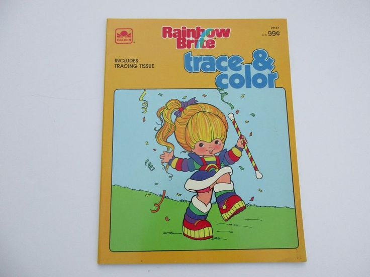 Vintage Rainbow Brite Coloring Book Trace Color Golden NEW Unused ColoringBook