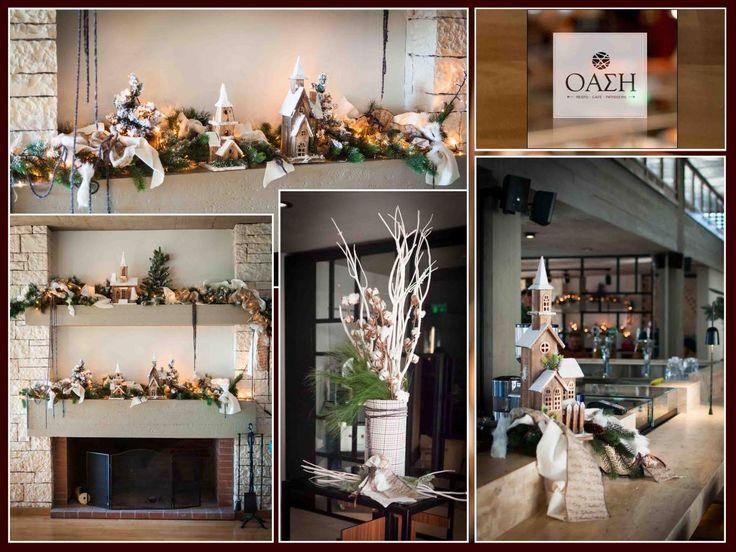 #Χριστουγεννιάτικη #Διακόσμηση #καφετέριας #Όαση - Κεντρική Πλατεία Ιωάννινα - by #4LOVEgr - Concept Stylist Μάνθα Μάντζιου & Floral Artist Ντίνος Μαβίδης