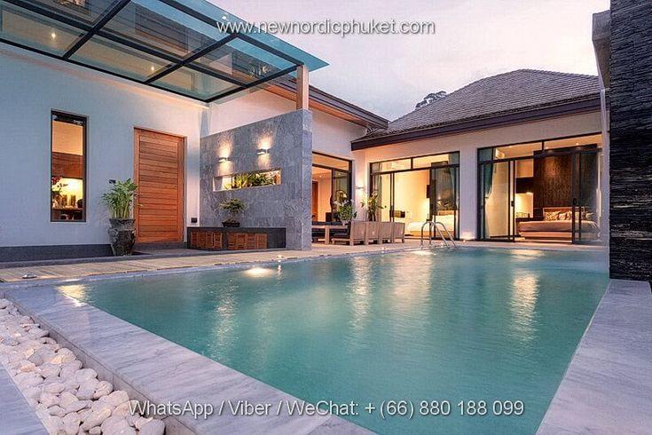 Villa de luxe à vendre en Thaïlande, Phuket. Surface des villas: 108,35 - 148.95 m², 3 chambres. Prix des villas: 13,500,000 - 15,500,000 THB (346,000 - 397,000 EUR). Distance de la plage Kamala: 2.7 km. 14 villas de luxe. Prix du m²: 62,766 THB (1600 EUR). Agence immobilière Phuket Whats App / Viber / Wechat: + (66) 880 188 099 Email: exoticpropertysale@gmail.com