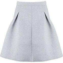 ICHI AZELLO Spódnica plisowana grey melange