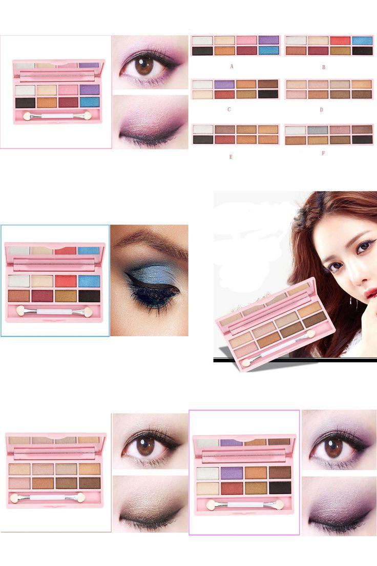 [Visit to Buy] New Make Up Paleta De Sombra Eyeshadow Pallete Pro 8 Colors Pro Eyeshadow Shimmer Mate Palette Cosmetic Brush Mirror Makeup Set #Advertisement