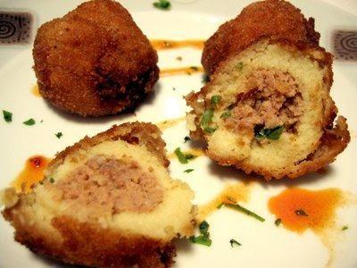 Receta de Patatas rellenas de carne