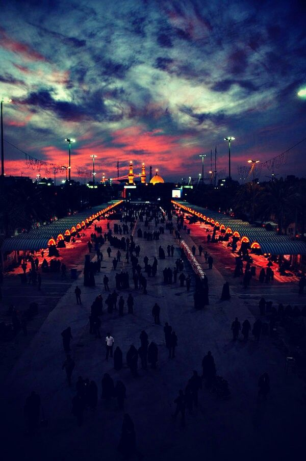 On the way to the shrine of Imam Husayn a.s.