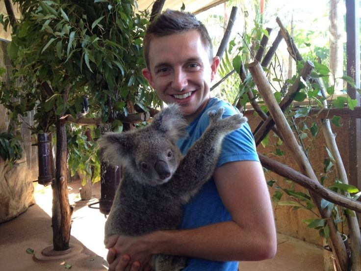 Koala hug! At Cairns ZOOm and Wildlife Dome