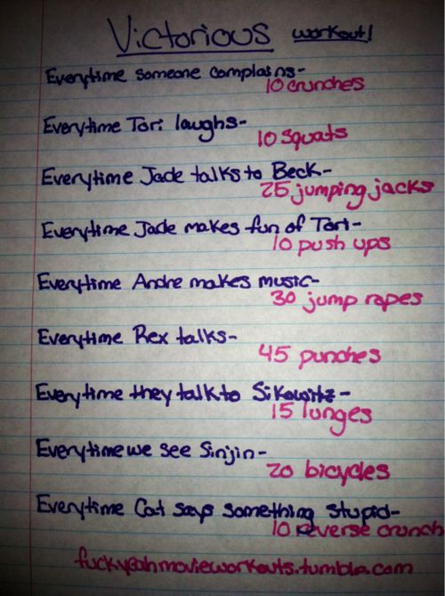 Victorious workout!  Want to see more workouts like this one? Follow us here.
