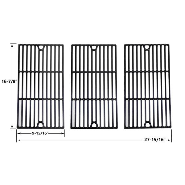 3 PACK PORCELAIN CAST IRON REPLACEMENT COOKING GRIDS FOR RANGE MASTER, MASTER CHEF 85-3100-2, 85-3101-0, G43205, T480 AND KENMORE 463420507, 461442513 GAS GRILL MODELS  Fits RANGE MASTER : 463441412 (Rangemaster) Range Master  BUY NOW @ http://grillrepairparts.com/shop/grill-parts/porcelain-cast-iron-replacement-cooking-grids-for-master-chef-85-3100-2-85-3101-0-g43205-t480-and-kenmore-463420507-461442513-gas-grill-models-set-of-3/