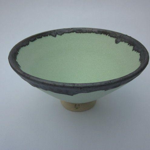 Lime Green Stoneware Bowl Width 13cm £16.00 by Menear Ceramics on Folksy