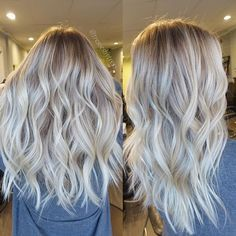 This is how I will ask for my hair next time, keeping my natural ash blonde on my roots and as a base/lowlight with the balayage style platinum blonde as cool as possible because last time it turned out too brassy and yellow.