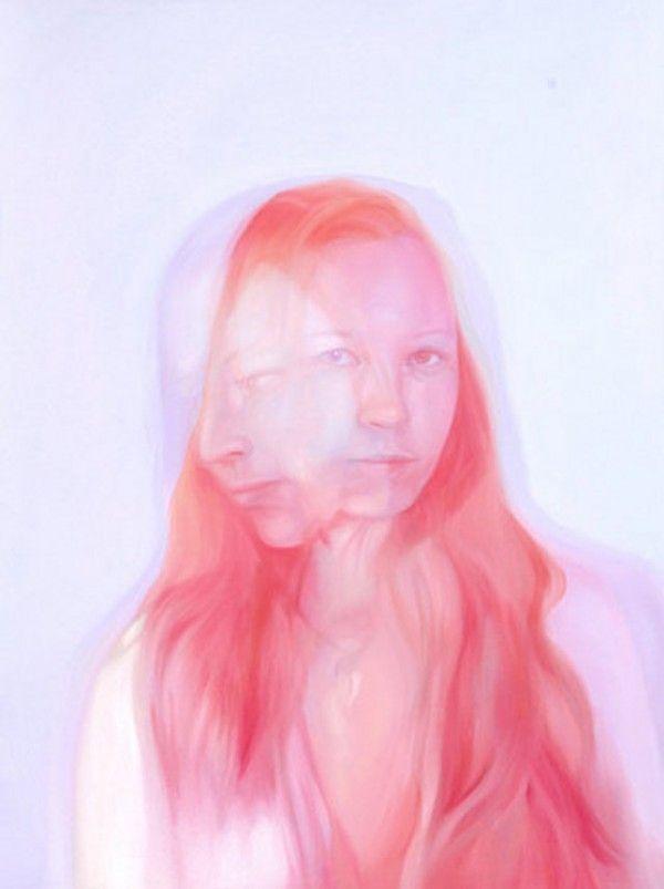 Dreamy acrylic double exposure paintings by Jea Mann - ego-alterego.com