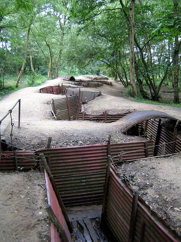 Original WW1 Trenches Sanctuary Wood, Ypres, it's a really strange feeling to walk inside of them. Makes you really think about what all those soldiers had to go trough. Especially when if the belgian weather strikes again