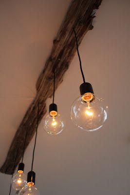 Designfruen drivved lampe