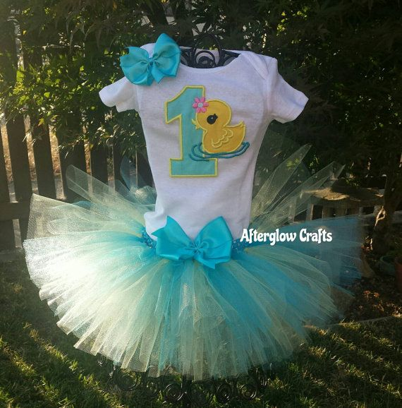 Rubber Ducky First Birthday Tutu Rubber Duck by AfterglowCrafts