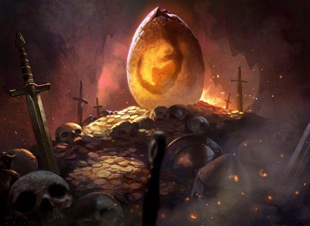 Dragon Egg - MtG Art