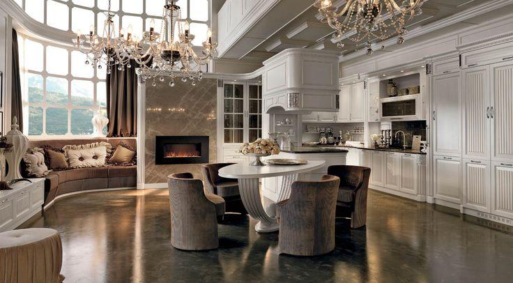 Fine Italian kitchen with marble countertops in Chicago   Martini Mobili