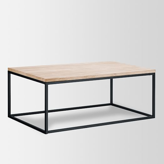 Box Frame Coffee Table - Wood | west elm. Clean, easy. Storage trunk under? $350 for large size.
